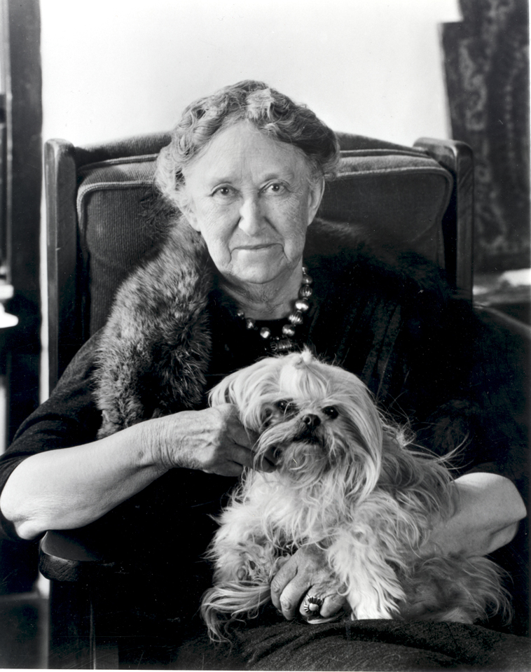 Mary sitting w dog
